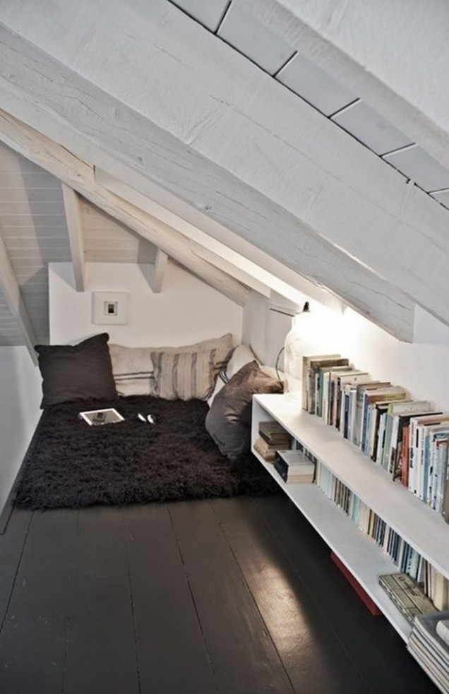 малък кът за четене у дома