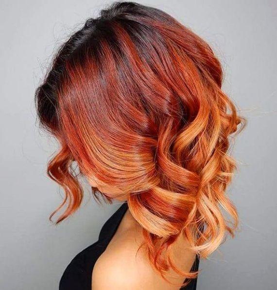 модерен цвят среднодълга коса