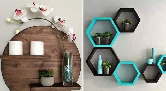 асиметрични поставки за стена