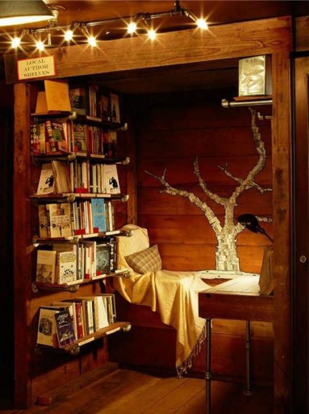 кътче за четене с книги