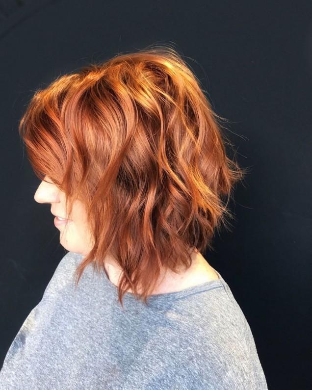 червена коса средна дължина