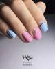 Изискан маникюр в синьо и розово