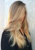 коса на етажи с дълъг бретон