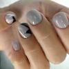 маникюр за къси нокти 2020 декорация за къси нокти омбре маникюр за къси нокти маникюр за къси нокти в сиво