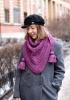 сиво палто с шал