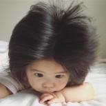 бебето с най голяма коса