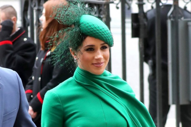 Меган Маркъл зелена шапка