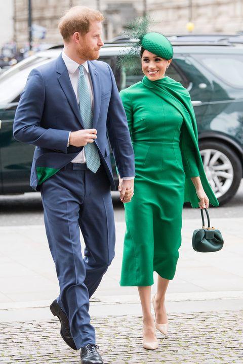 Меган Маркъл зелена рокля