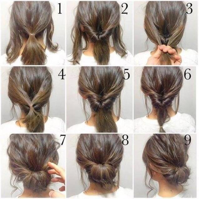 как да си вържа косата