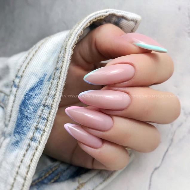 френски маникюр дълги нокти