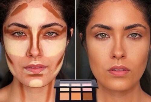 контуриране на лицето