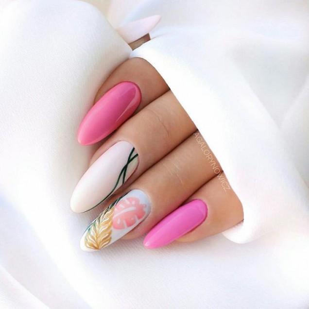 пролетен маникюр розова гама