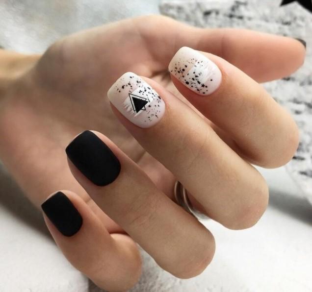 ефектен маникюр къси нокти