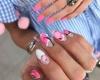 пролетен маникюр с розово