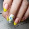 пролетен маникюр жълто