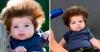 бебе с голяма коса