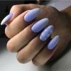 Очарователен маникюр светло синьо