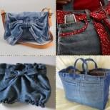 дънкови чанти идеи