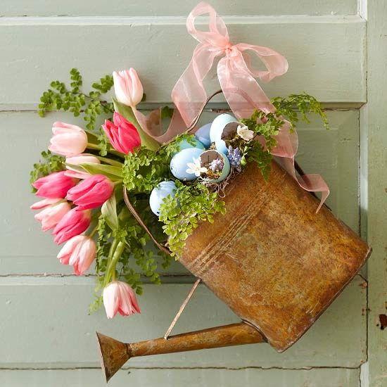 оригинална украса с цветя