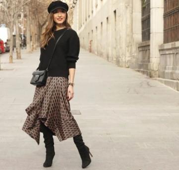 комбинация на пола с пуловер