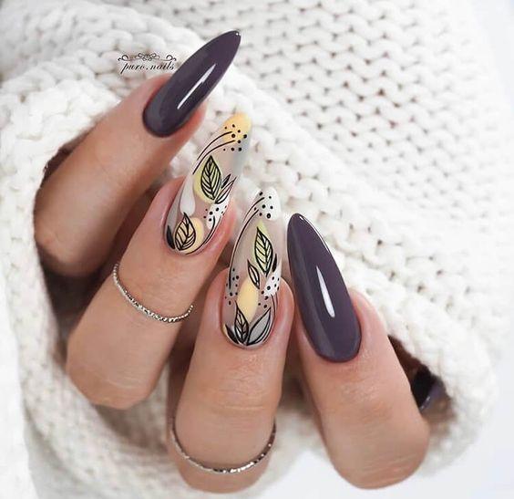 изящен маникюр дълги нокти