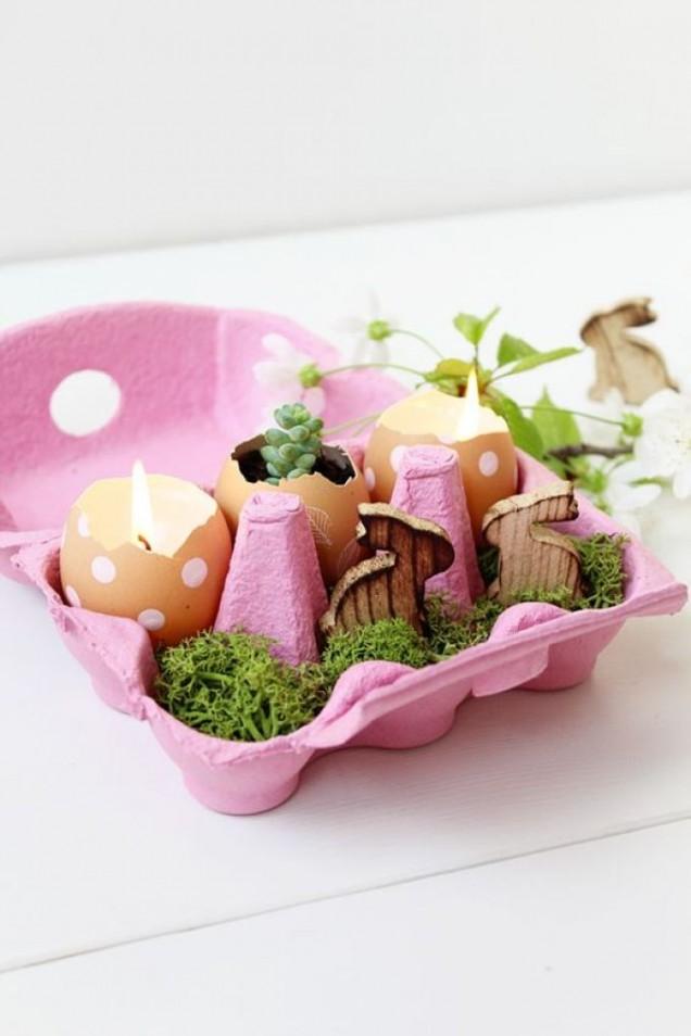 великденска украса с кори от яйца
