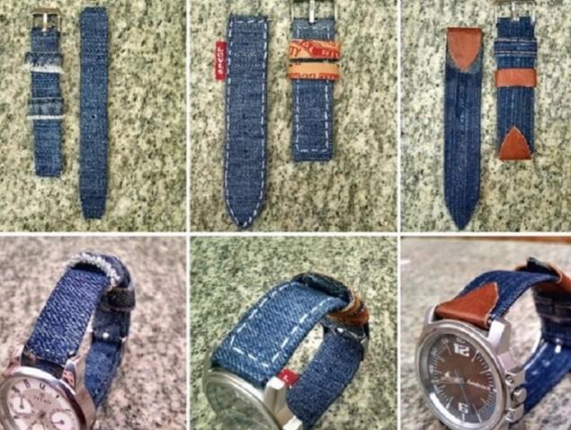 дънкова каишка на часовник