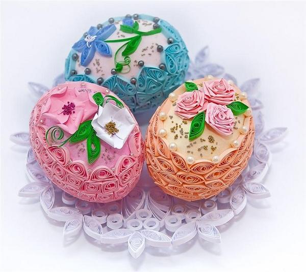 плетени великденски яйца