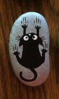 рисунка върху камък