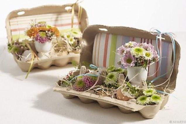 векикденска украса от кутиите на яйцата