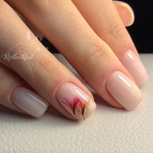 Френски маникюр в розово