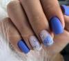 къси лилави нокти