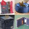 25 златни идеи от старите дънки - хем почистваш гардероба, хем е красиво и практично (Снимки):