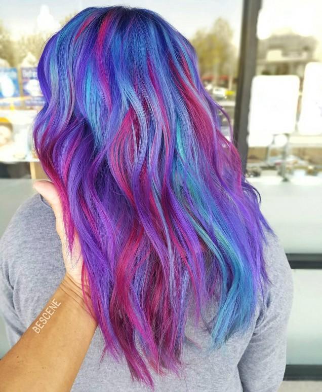 коса в цвят дъга