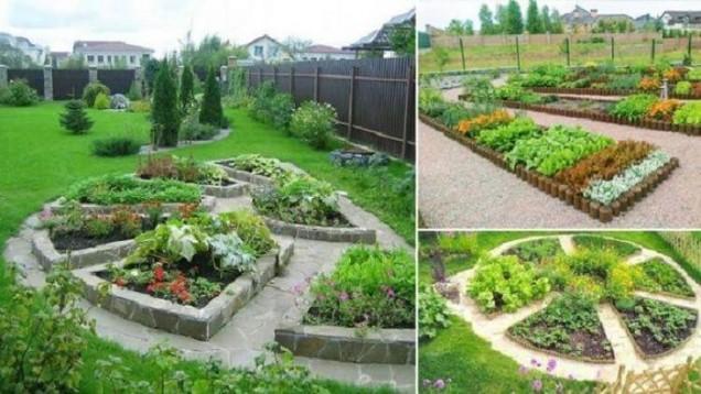 красиво оформена градина