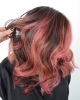 пастелно розови кичури