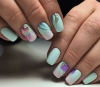 красив пролетен маникюр къси нокти