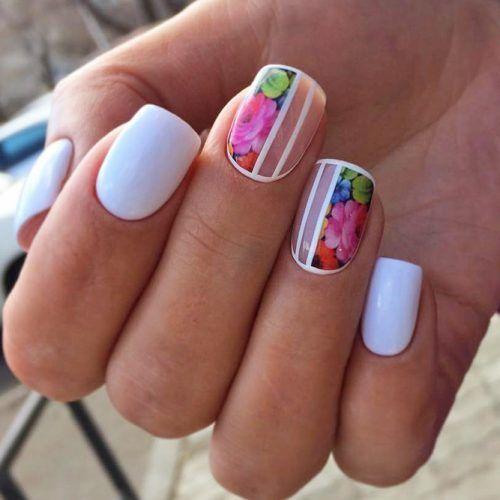 цветен маникюр къси нокти