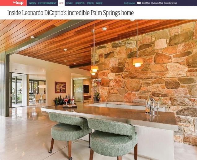 домът на Лео ДиКаприо в Палм Спрингс