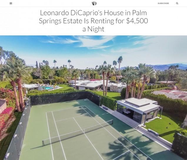 вилата на Лео ДиКаприо тенис корт
