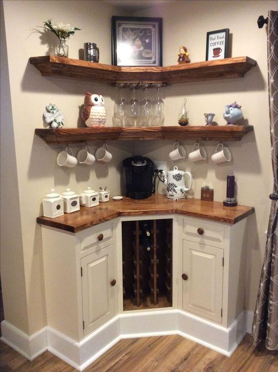 ъглов кухненски шкаф