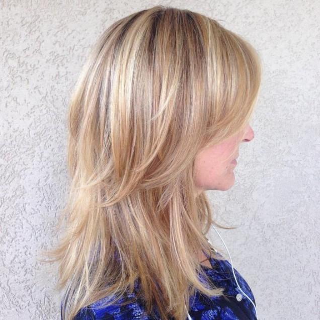 прическа за обем дълга коса