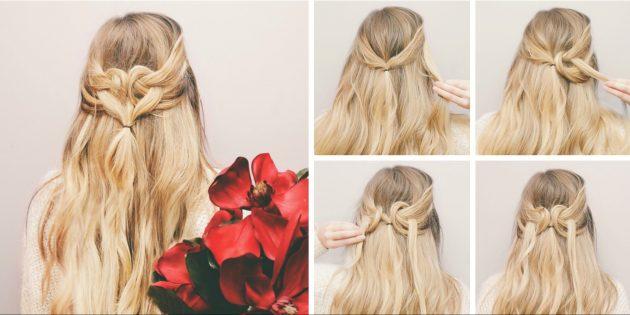 лесна прическа дълга коса