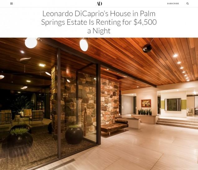 вилата на Лео ДиКаприо нощем