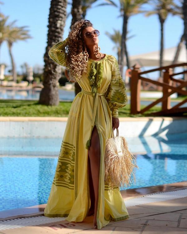 жълто зелена рокля
