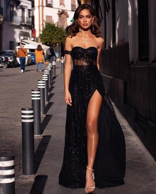 дълга рокля с цепка
