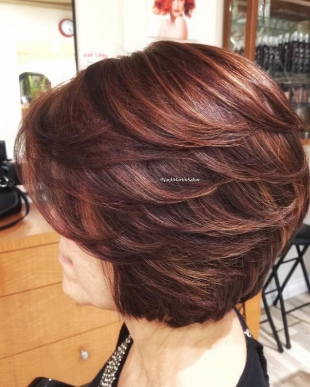 прическа за тънка коса зряла жена