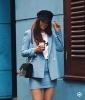 дамски костюм в синьо