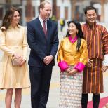 кралицата на Бутан с Кейт и Уилям