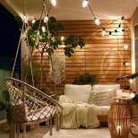 романтичен балкон вечер